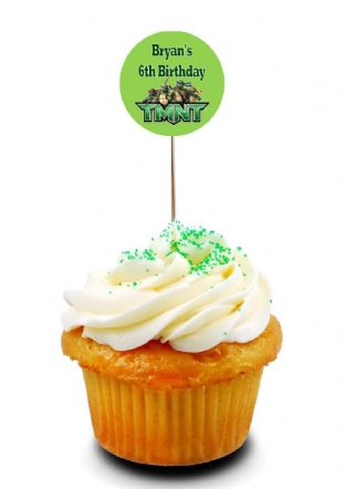 Teenage Mutant Ninja Turltes Cupcake Picks/Toppers